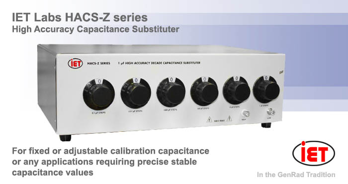 IET HACS-Z High Accuracy Capacitance Substituter